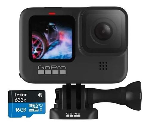Câmera Gopro Hero 9 Black 5k Cartão Micro Sd 16 Gb