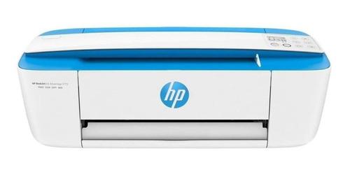 Impresora A Color Multifunción Hp Deskjet Ink Advantage 3775 Con Wifi Blanca Y Azul 200v/240v