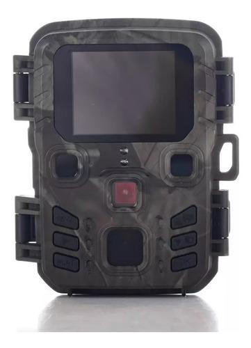 Mini Câmera De Trilha Visão Noturna Com Display 20mp Mini301