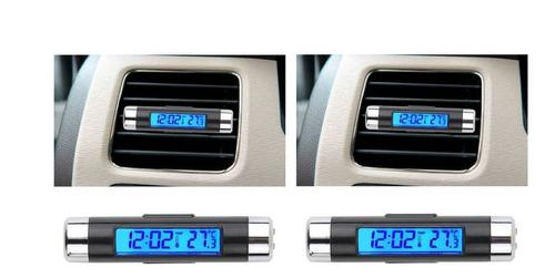 Reloj Termometro Digital, Moderno Para Carro 2019 Luz Blue