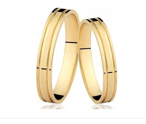 Par De Alianças De Ouro 18k 3mm 3 Gramas, Casamento Noivado