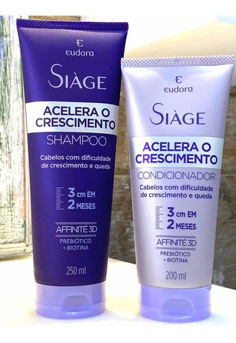 Siàge Acelera O Crescimento Shampoo + Condicionador - Eudora