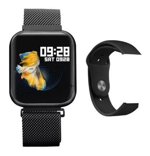 Relógio Feminino Smart Watch Oled P70 + Duas Pulseiras Rose