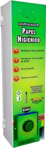 Dispensador Metálico De Papel Higiénico Con Monedero