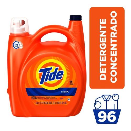 Detergente Tide Orange Concentrado He Original 96ld 4,08lt