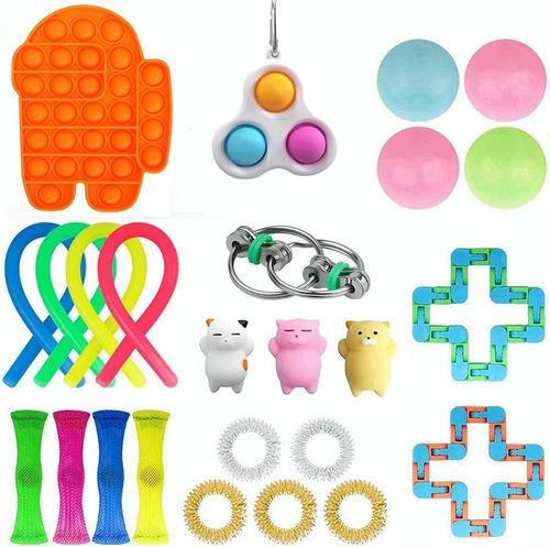 25pcs Fidget Cubo- Anti Stress Toy Sensorial Alivia O Estres