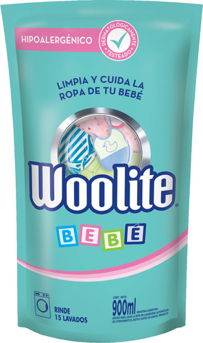 Jabón Líquido Woolite Bebé Repuesto 900ml