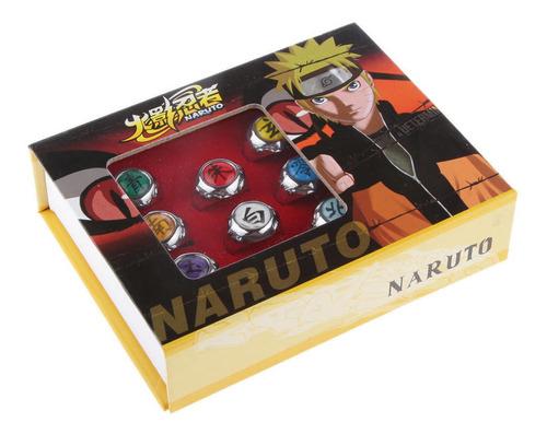Conjunto 10 Anéis Naruto, Cosplay, Akatsuki, Anime, Itachi A