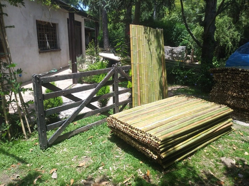 Cañas. Bambu Tacuara Pergola Cerco Decoracion. 1 X 1 Metro