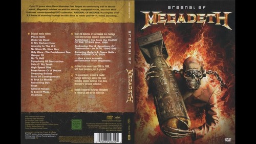 Megadeth 4 Dvd Importados That One Night Rude Arsenal Hits