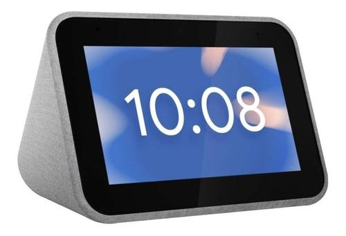 Bocina Inteligente Lenovo Smart Clock Con Asistente Virtual Google Assistant, Pantalla Integrada De 4  Gray 100v/240v