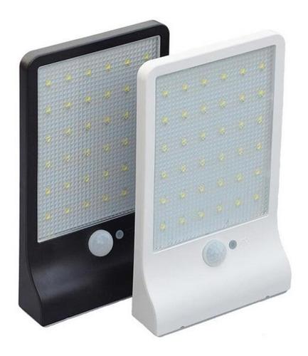 Luminária Solar Com Sensor 36l 60w Potente 6000k Capa Preto