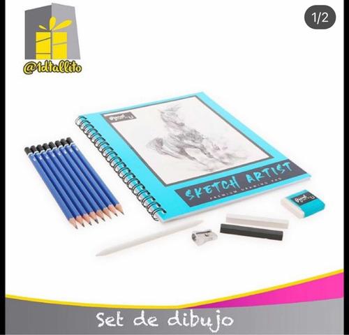 Set Kit De Dibujo Bocetos Lápices Grafito Premium