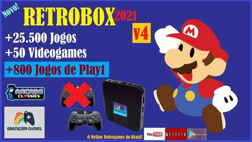 Retrobox 2021 64gb +25.500 Jogos E 1 Controle