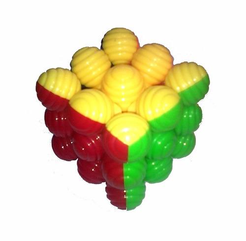 Cubo Magico Tipo Rubik Heshu 3x3 - Diseño Con Esferas 7cm