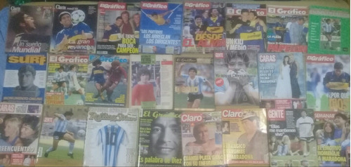 Diego Maradona - Revista El Grafico, Gente, Caras