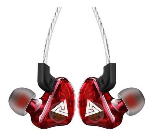 Audífonos In-ear Qkz Ck5 Rojo
