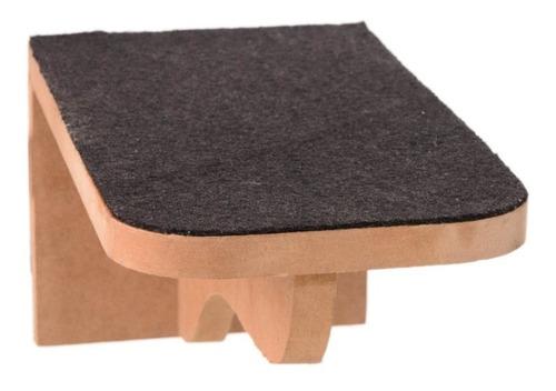 Kit 03 Pçs Prateleira Step Escada P/gatos Mdf Cru C/carpete