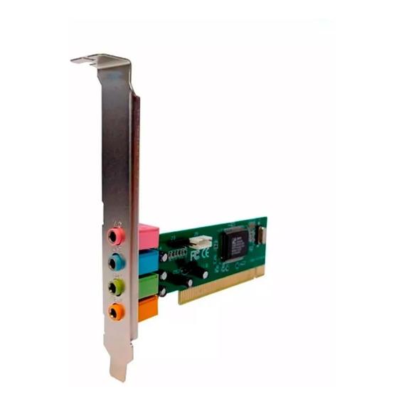 Placa De Sonido Pci   Nisuta Pciau4 4.1 Para Pc   Audio Card