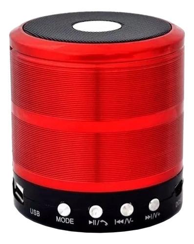 Alto-falante Grasep D-bh887 Portátil Com Bluetooth Vermelho
