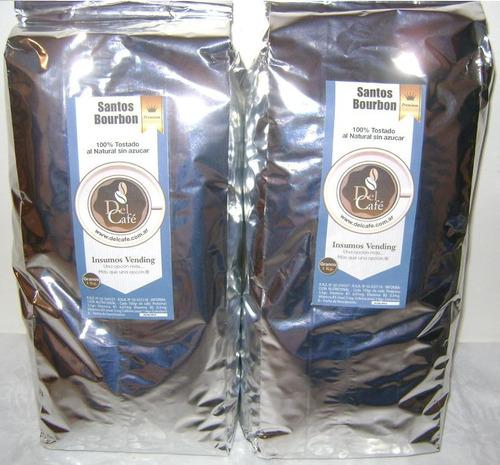 Cafe Tostado En Grano O Molido Santos Bourbon Doble Crema
