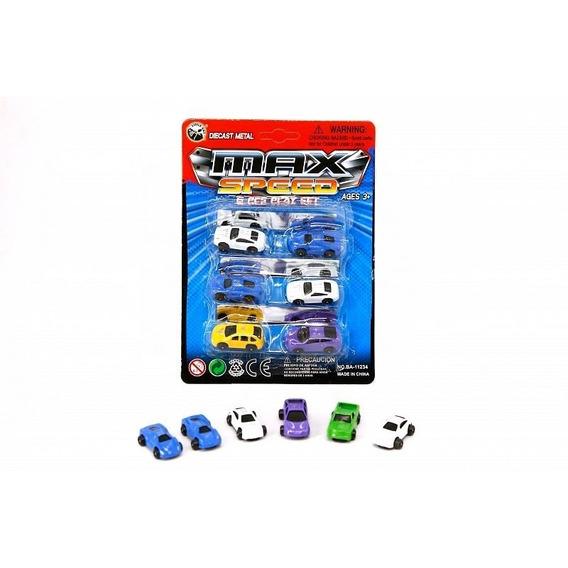 Blister Mini Autito Metalico X 6 Unidades 4 Cm Cada Uno