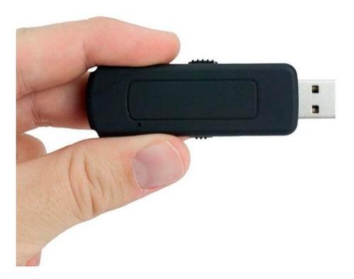 Pen Drive Espiao 4gb Spy Gravador Voz Audio Micro Escuta