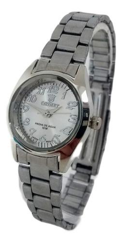 Relógio Feminino Prata Pequeno Original Prova Dágua Barato
