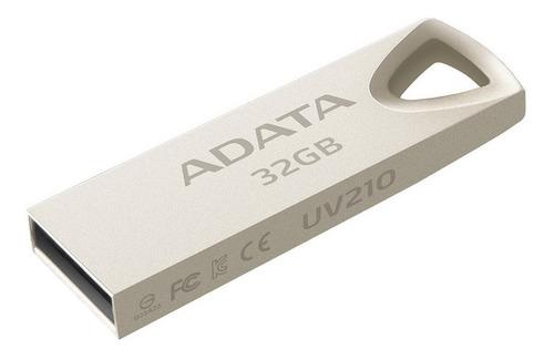 Memoria Usb Adata Uv210 32gb 2.0 Plateado