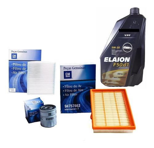 Kit Filtros Chevrolet 100% Onix Prisma + Aceite Sint Ypf