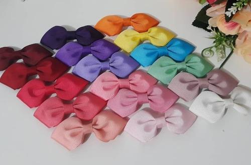 Kit 12 Presilhas De Cabelo Para Bebê Rn Laço Gravatinha Bico