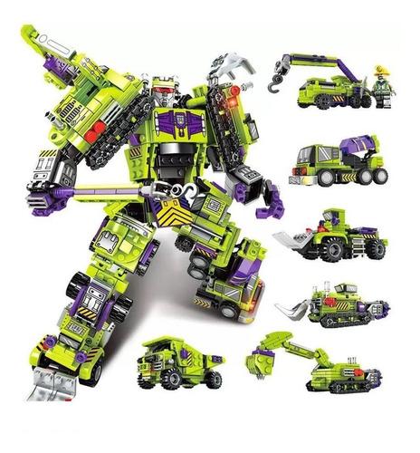 Blocos De Montar Transformers Robôs Carros Kit Com 709 Peças
