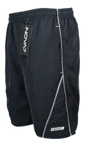 Kit 3 Shorts Tactel Elástico Revenda 3 Bolsos C/ Viés Nova7