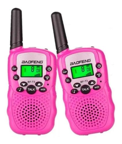 Boquitoquis Baofeng Bf -t3 Radio Telefono Inalambrico Niña