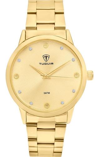 Relógio Tuguir Feminino Dourado Tg30005