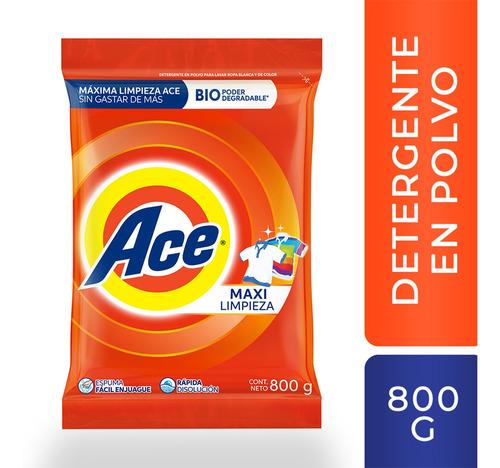 Detergente En Polvo Ace Maxi Limpieza - 800g
