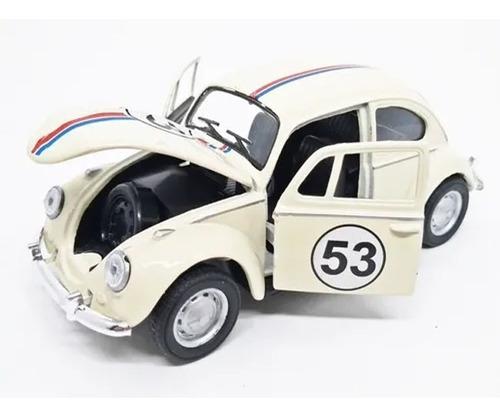 Miniatura Volkswagen Fusca Herbie 53 1967 - Welly - Esc 1/32