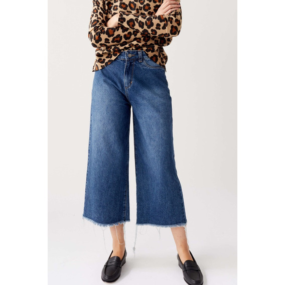 Jean Mujer Tipo Coulotte Moderno * Unico Talle 28*