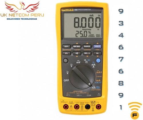 Multimetro C/ Calibrador Procesos Fluke 789 / 2 Años Garanti