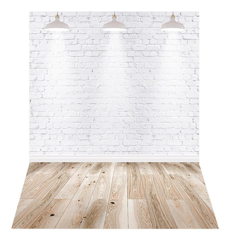 Fundo Fotográfico Tijolo Branco Em Tecido 2, 2x1, 5m C 137