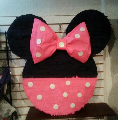 Piñata De Minnie Mouse Más 10 Mini Piñatas De Cotillon Combo