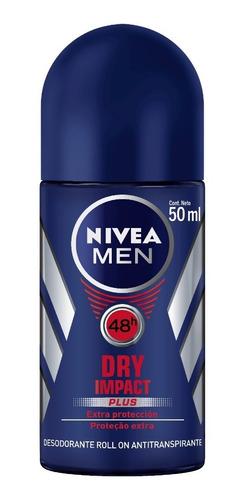 Desodorante Roll On Nivea Men Active Dry Impact 50ml