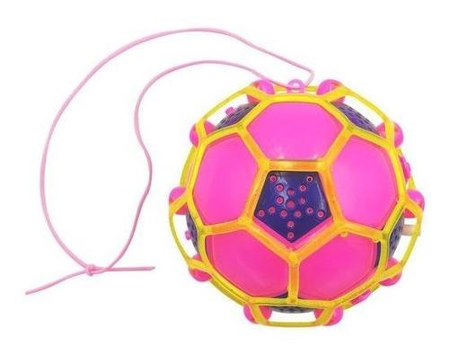 Brinquedo Bola Maluca Eletrônico Colorido Pula Com Luz E Som