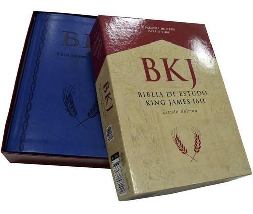 Bíblia De Estudo Bkj King James Fiel 1611 C/estudo Holman