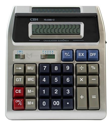 Calculadora 2 Visores De Mesa Escritório Cbh Original
