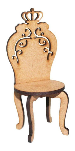12 Mini Cadeira Cadeirinha 11cm Coroa Doce Festa Bombom