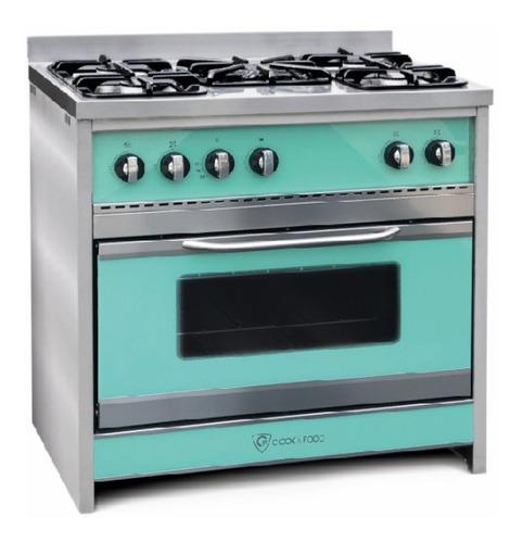 Cocina Tst Chiara A Gas/eléctrica 5 Hornallas  Verde Puerta  Con Visor