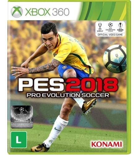 Pes 2018 Pro Evolution Soccer Lacrado Midia Fisica Xbox 360