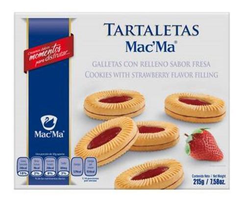 Galleta Macma Tartaletas Fresa 215g