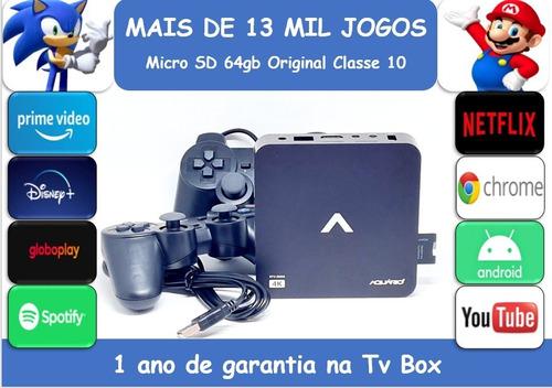 Video Game Retro  13mil Jogos 64gb 2 Cont.play Usb Sem Juros